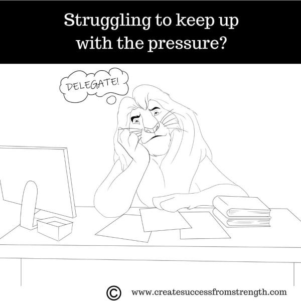 Struggling to keep up with the pressure